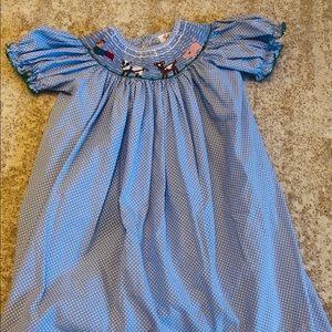 Shrimp & Grits Smocked Girls Dress